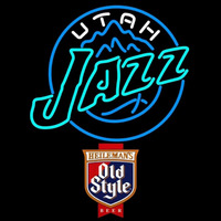 Old Style Utah Jazz NBA Beer Sign Neon Sign