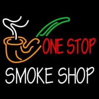 One Stop Smoke Shop Neon Sign