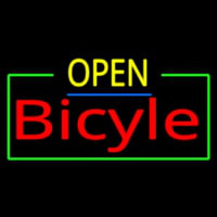 Open Bicycle Neon Sign