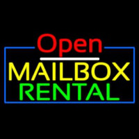 Open Mailbo  Rental Neon Sign