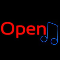 Open Music Neon Sign