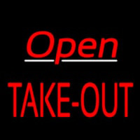 Open Take Out Neon Sign