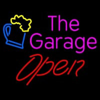 Open The Garage Neon Sign