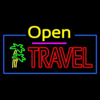 Open Travel Neon Sign
