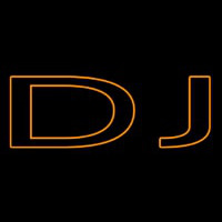 Orange Dj Double Stroke Neon Sign