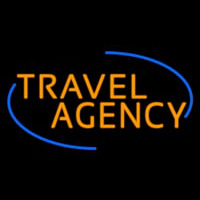 Orange Travel Agency Neon Sign