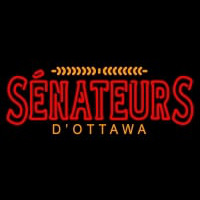 Ottawa Senators Wordmark Pres Logo Nhl Neon Sign Neon Sign