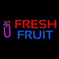 Oval Fresh Fruit Smoothies Neon Sign