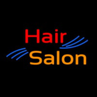 Oval Hair Salon Neon Sign