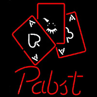 Pabst Ace And Poker Beer Sign Neon Sign