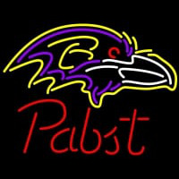 Pabst Baltimore Ravens NFL Beer Neon Sign Neon Sign