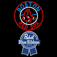 Pabst Blue Ribbon Boston Red Sox MLB Beer Sign Neon Sign