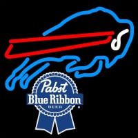 Pabst Blue Ribbon Buffalo Bills NFL Neon Sign Neon Sign