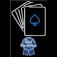 Pabst Blue Ribbon Cards Beer Sign Neon Sign