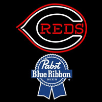 Pabst Blue Ribbon Cincinnati Reds MLB Beer Sign Neon Sign