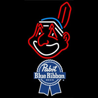 Pabst Blue Ribbon Cleveland Indians MLB Beer Sign Neon Sign