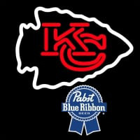 Pabst Blue Ribbon Kansas City Chiefs NFL Neon Sign Neon Sign