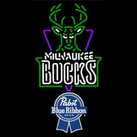 Pabst Blue Ribbon Milwaukee Bucks NBA Beer Sign Neon Sign