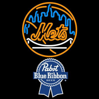Pabst Blue Ribbon New York Mets MLB Beer Sign Neon Sign