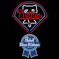 Pabst Blue Ribbon Philadelphia Phillies MLB Beer Sign Neon Sign