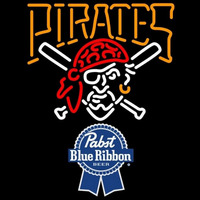 Pabst Blue Ribbon Pittsburgh Pirates MLB Beer Sign Neon Sign