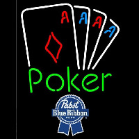 Pabst Blue Ribbon Poker Tournament Beer Sign Neon Sign