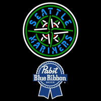 Pabst Blue Ribbon Seattle Mariners MLB Beer Sign Neon Sign