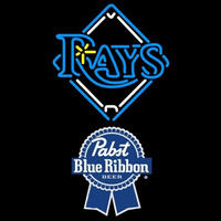 Pabst Blue Ribbon Tampa Bay Rays MLB Beer Sign Neon Sign