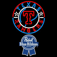 Pabst Blue Ribbon Texas Rangers MLB Beer Sign Neon Sign