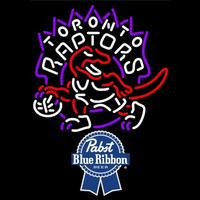 Pabst Blue Ribbon Toronto Raptors NBA Beer Sign Neon Sign