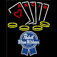 Pabst Blue RibbonPoker Ace Series Beer Sign Neon Sign