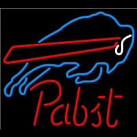 Pabst Buffalo Bills NFL Beer Neon Sign Neon Sign