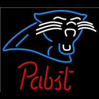 Pabst Carolina Panthers NFL Beer Neon Sign Neon Sign