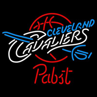 Pabst Cleveland Cavaliers NBA Beer Sign Neon Sign