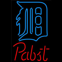Pabst Detroit Tigers MLB Beer Sign Neon Sign