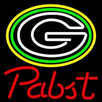 Pabst Green Bay Packers NFL Beer Neon Sign Neon Sign