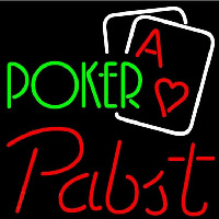 Pabst Green Poker Beer Sign Neon Sign