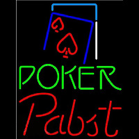 Pabst Green Poker Red Heart Beer Sign Neon Sign