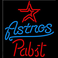 Pabst Houston Astros MLB Beer Sign Neon Sign