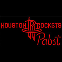 Pabst Houston Rockets NBA Beer Sign Neon Sign