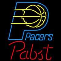 Pabst Indiana Pacers NBA Beer Sign Neon Sign