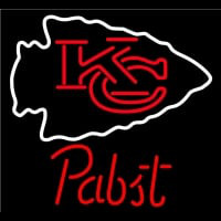 Pabst Kansas City Chiefs NFL Beer Neon Sign Neon Sign