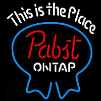 Pabst Light This is the Place Beer Sign Neon Sign