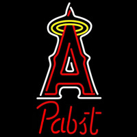 Pabst Los Angeles Angels of Anaheim MLB Beer Sign Neon Sign