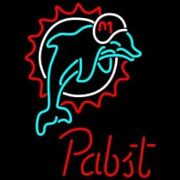Pabst Miami Dolphins NFL Beer Neon Sign Neon Sign