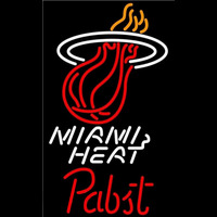 Pabst Miami Heat NBA Beer Sign Neon Sign
