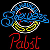Pabst Milwaukee Brewers MLB Beer Sign Neon Sign