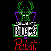 Pabst Milwaukee Bucks NBA Beer Sign Neon Sign