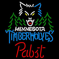 Pabst Minnesota Timberwolves NBA Beer Sign Neon Sign