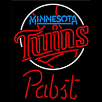 Pabst Minnesota Twins MLB Beer Sign Neon Sign